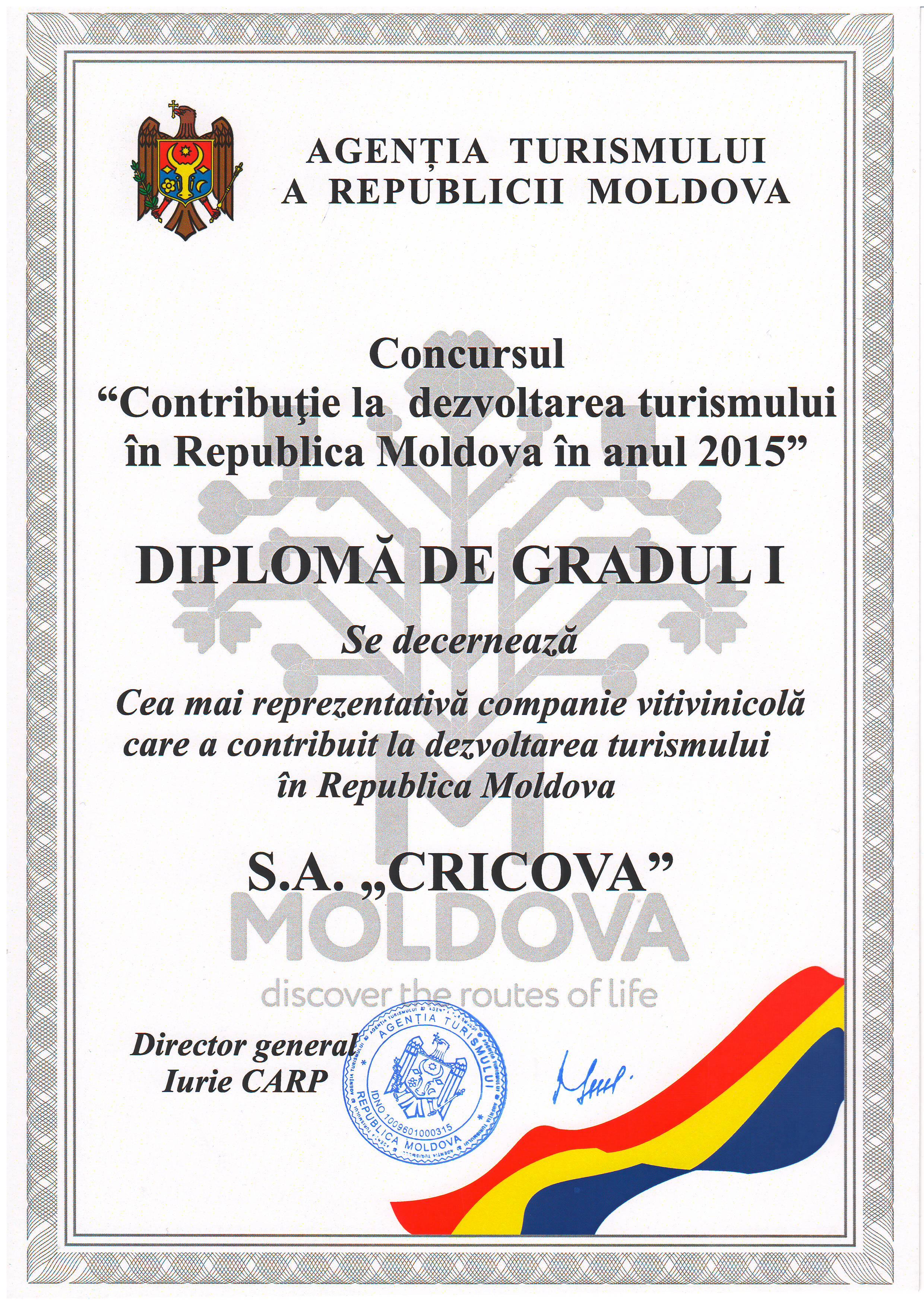 Ещё один диплом для Центра Бизнеса и Туризма КРИКОВА ВИН А О  diplom
